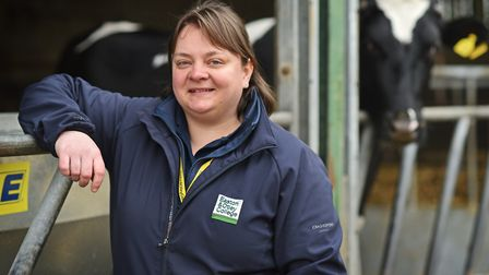 Norfolk cattle farmer and Easton and Otley College assessor Helen Reeve. Picture: ANTONY KELLY