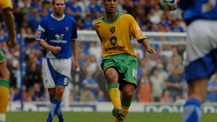 Moroccan international midfielder Youssef Safri in East Anglian derby action for Norwich City at Ips