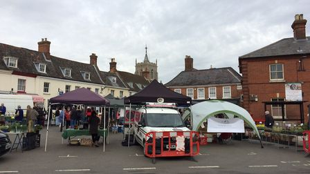 The launch was held at Aylsham farmers' market. Picture: David Bale