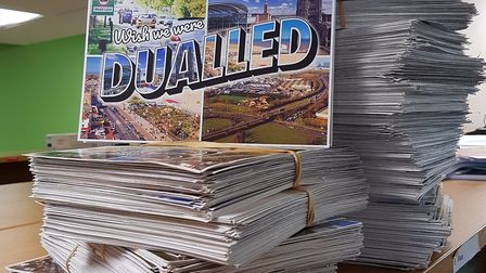 More than 1,700 postcards have been sent calling for the A47 to be fully dualled. Pic: Norfolk Count