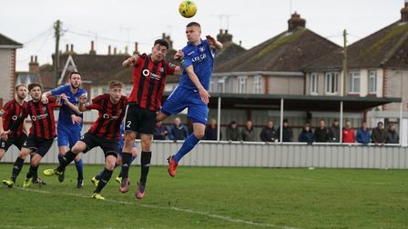 Lowestoft Town are at home to Hendon in another crucial game for the Blues. Picture: Shirley D Whitl