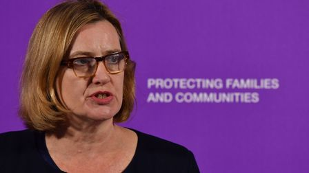 Home Secretary Amber Rudd speaking about violent crime at the Coin St Neighbourhood Centre in London
