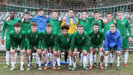 Norfolk's U18s squad for their semi-final win. Picture: Oliver Harrison.