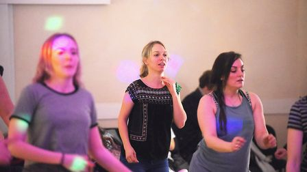A 12 - hour danceathon was held at Spixworth Village Hall to raise funds for Super Strong Sophie. Pi