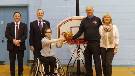 The club's seniors raised funds to provide the item to Rhiannan Webb of the Norwich Low Riders wheel