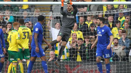 Angus Gunn was at fault for Cardiff's first goal. Picture: Paul Chesterton/Focus Images