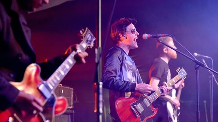 Stereophonics tribute band start the first ever Norwich Fake Festival at Eaton Park.Picture: Nick Bu