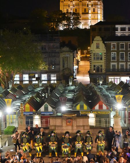 A spectacular parade through the streets of Norwich to celebrate the launch of the 2018 Norfolk and
