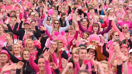 Thounsands of competitors take part in the 2018 Norwich Race For Life.Picture: Nick Butcher