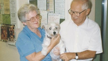 Peter Dawson with his wife Brenda. Picture: Dawson family