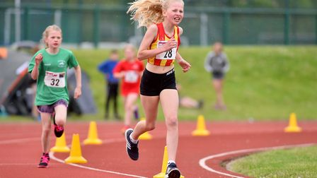 Action from the Athletics Norfolk Track and Field Championships. Picture: Nick Butcher