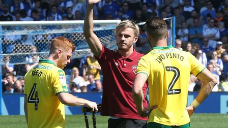 James Maddison finished the season on crutches. Picture: Paul Chesterton/Focus Images