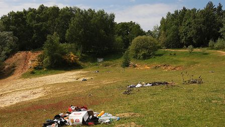 Rubbish left behind at Bawsey Pits. Picture: Ian Burt