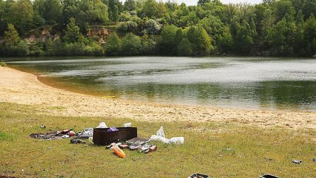 There was an illegal rave held at Bawsey Pits over the weekend. Picture: Ian Burt