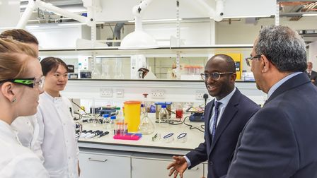 Science minister Sam Gyimah speaks to researchers at the Quadram Institute. Picture: David Kirkham/Q