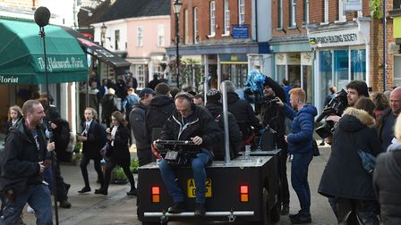 Director Danny Boyle during the shooting of his new film, in the Halesworth. Picture Joe Giddens/PA