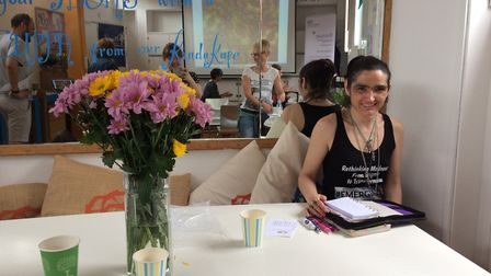 Volunteer Laura O'Shea at an Emerging Proud event in Norwich. PHOTO: Sophie Smith