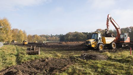 Work begins on the £10m Each Nook hospice at Framingham Earl.Picture: Nick Butcher