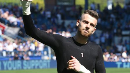 Angus Gunn acknowledges the travelling support at Sheffield Wednesday. Picture: Paul Chesterton/Focu