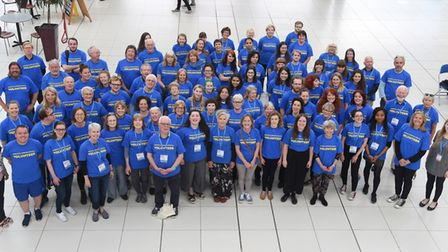 The army of volunteers for the Norfolk and Norwich Festival 2018. Picture: DENISE BRADLEY