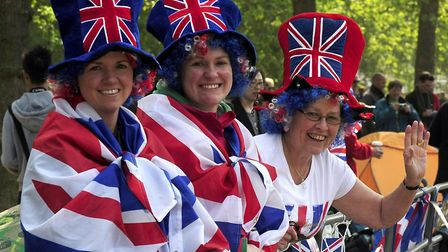 File photo of people enjoying the royal wedding of Prince William and Kate Middleton. Picture: John