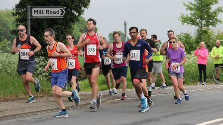 Action from th Dereham 10 mile race. Picture: Aaron Protheroe