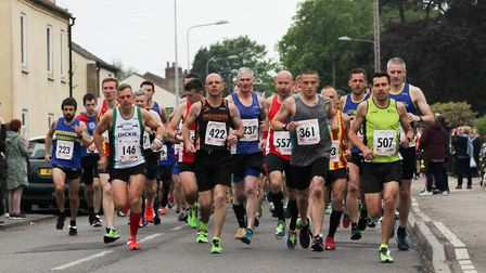 Action from the Dereham 10m race. Picture: Aaron Protheroe