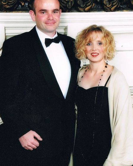 Mandy Hathway suffered a stroke aged just 20. Pictured with husband Ben. Photo: Headway Norfolk and