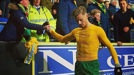 James Barnes was lucky enough to get his hands on James Maddison's shirt after the away game against