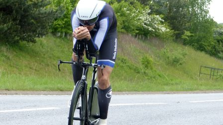 King''s Lynn rider Matthew Senter sets out on his winning ride at the VC Norwich 25-mile time trial.