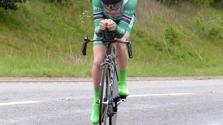 Oliver Stockwell (Welwyn Whs) set a new national juvenile record at the VC Norwich 25 mile time tria