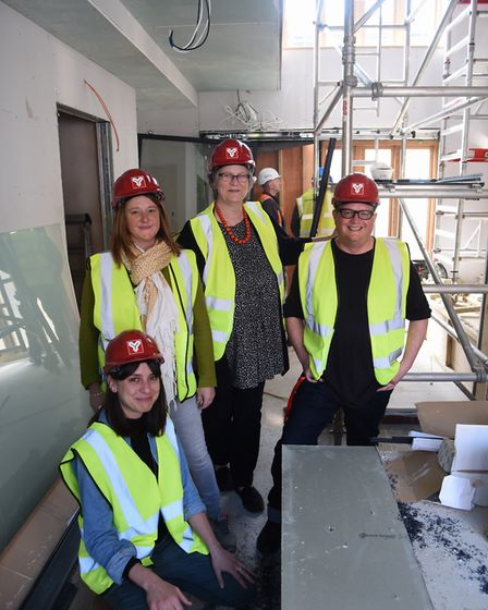 The National Centre for Writing team, from left, Hannah Garrard, learning and participation manager;
