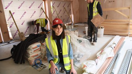 Hannah Garrard, learning and participation manager, in the new education room as work is nearing com