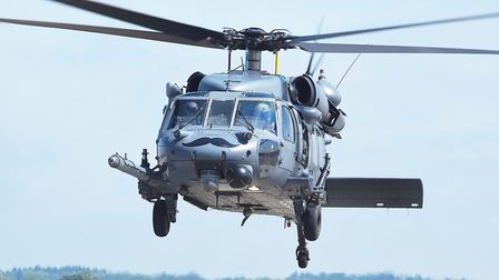 The last Pave Hawk helicopters and airmen leaving RAF Lakenheath for the last time. Picture: Ian Bur