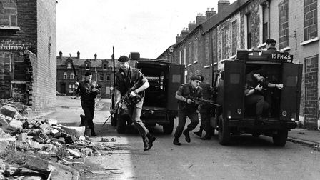 Soldiers in Northern Ireland in the 1970s Picture: Archant library