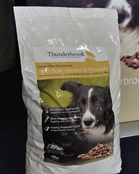 A promise kept - a photograph of Heidi, Eddie Linehan's dog, now adorns packaging for Thunderbrook's