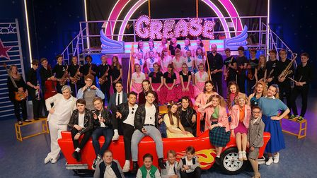 Langley Senior School pupils in a school production of Grease. Picture: LANGLEY SCHOOL