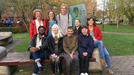 UEA MA Poetry students who are presenting the event (I) In Memory of Rebecca McManus at the Norfolk