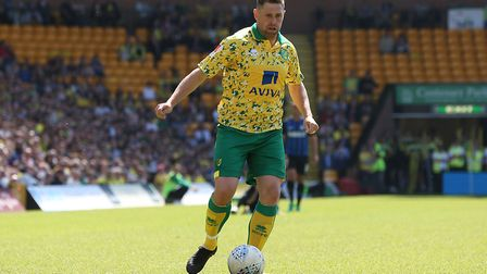 Grant Holt of Norwich City Legends in action during the Friendly match at Carrow Road, NorwichPictur