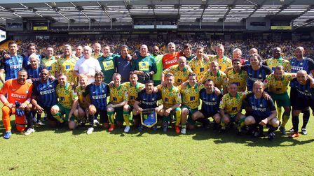 Norwich City Legends and Inter Forever players. Pictures: Paul Chesterton/Focus Images