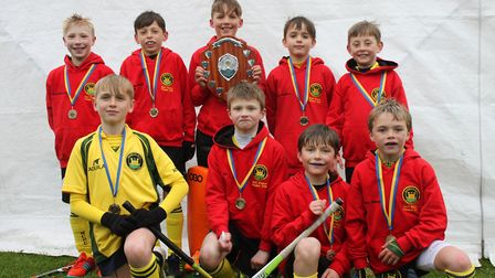 Norwich City's Under-10 hockey team who have been crowned Eastern Counties champions. Picture: CLUB