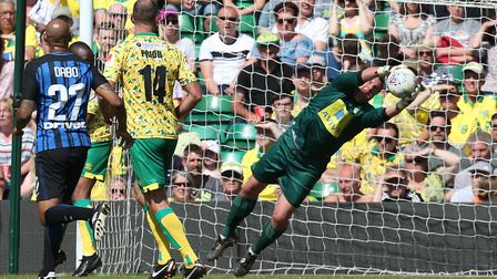 Andy Marshall needed to make some important saves for Norwich City Legends.