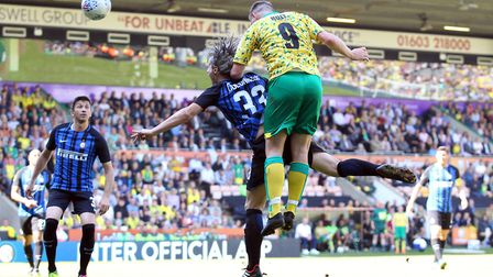 Grant Holt shows there's plenty of life in those 37-year-old legs with an excellent leap at the back