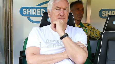 Mike Walker returned to the home dugout at Carrow Road. Picture by Paul Chesterton/Focus Images