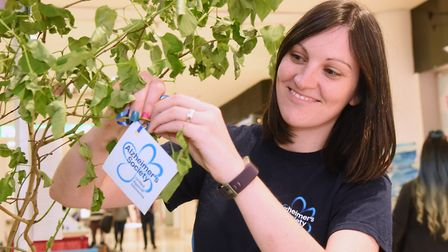 Aimee Packwood from the Alzheimer's Society, makes a pledge for Dementia Action Week at the Castle M