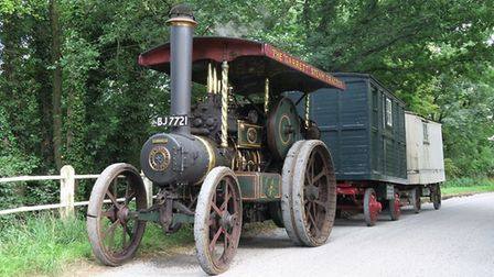 The Garrett steam tractor, built in 1917, which was used during the First World War in France to hau