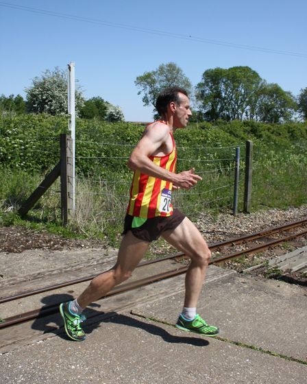 Jan Kaiser took first place at North Norfolk Beach Runners' Chase the Train event. Picture: Jeremy B