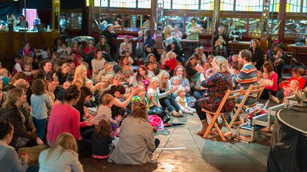 The Adnams Spiegeltent at the Norfolk & Norwich Festival is hosting a number of free community event