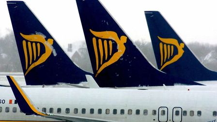 Ryanair aircraft at Stansted Airport. Picture: Chris Radburn/PA Wire