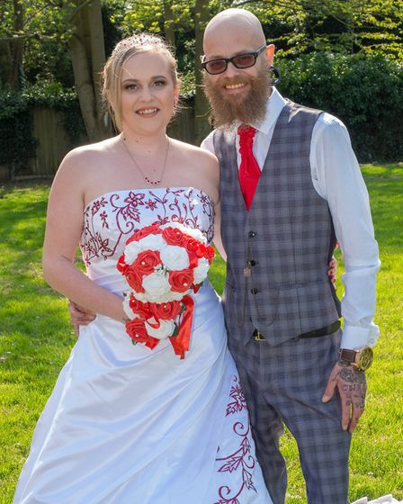 Zoe Brant-Wright, from Sprowston, brought forward her special day after her 46-year-old dad, Mark, w